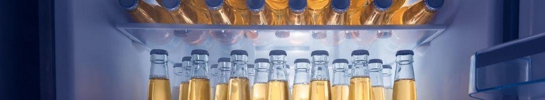 Kühlschrank mit Flaschen