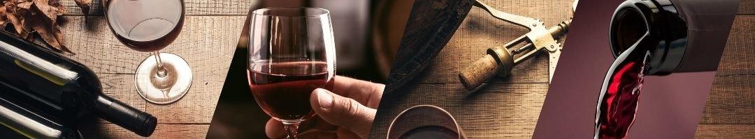 Weinglas, Weinflasche und Korkenzieher