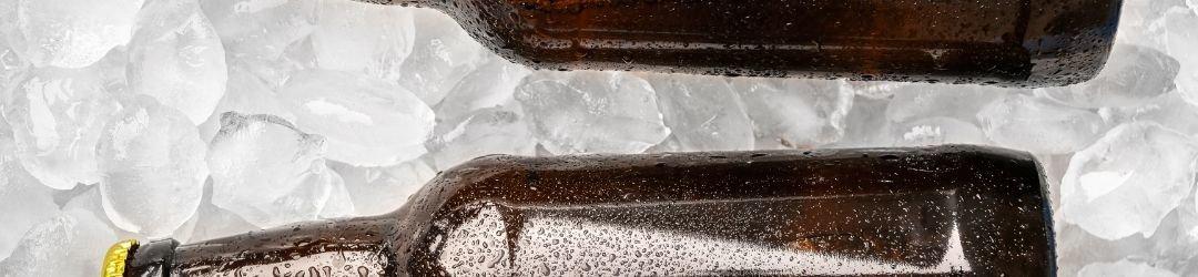 Flaschen aus Eis