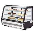 Polar 160Ltr Umluft Kühlvitrine f Desserts Kuchen Brötchen Backwaren Getränke