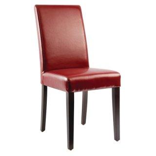 Bolero Kunstleder Stühle rot (2 Stk)
