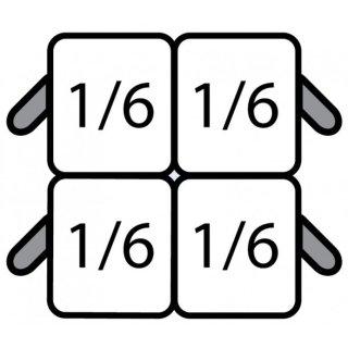 E7/CPCEXA Nudelkorb-Set: 4 x 1/6 GN