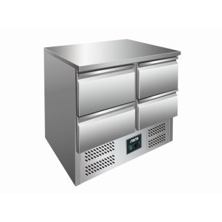 SARO Kühltisch mit Schubladen Modell VIVIA S 901 S/S TOP - 4 x 1/2 GN