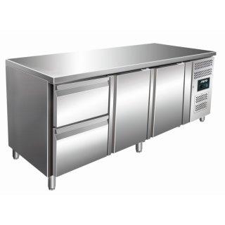 Kühltisch inkl. 2er Schubladenset Modell KYLJA 3110 TN, Maße: B 1795 x T 700 x H 890-950
