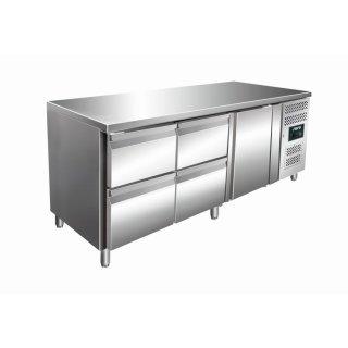 Kühltisch inkl. 2 x 2er Schubladenset Modell KYLJA 3140 TN, Maße: B 1795 x T 700 x H 890-950