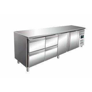 SARO Kühltisch inkl. 2 x 2er Schubladenset Modell KYLJA 4140 TN