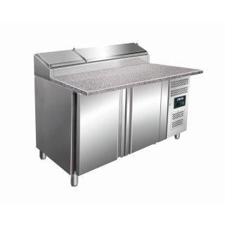 Belegstation, Granitarbeitsplatte - 1/3 GN Modell SH 1500, Maße: B 1500 x T 850 x H 1080-1140