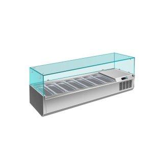 Kühlaufsatz - 1/3 GN Modell VRX 1600 / 380, Maße: B 1600 x T 395 x H 435