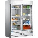 Kühlschrank mit Glastür, 2-türig -...