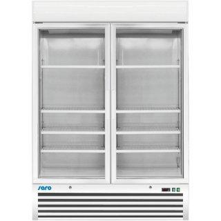 Tiefkühlschrank mit Glastür - 2-türig Modell D 920, Maße: B 1370 x T 700 x H 1985