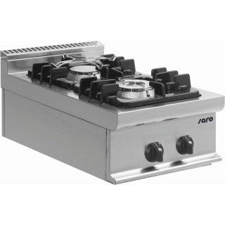 Gasherd Tischmodell E7/KUPG2BB, Maße: B 400 x T 700 x H 270