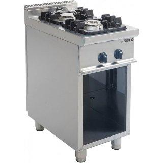 Gasherd mit offenem Unterbau Modell E7/KUPG2BA, Maße: B 400 x T 700 x H 850