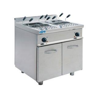 Elektronudelkocher Modell E7/KPE2V80, Maße: B 800 x T 700 x H 850, Inhalt: 2x 28 Liter