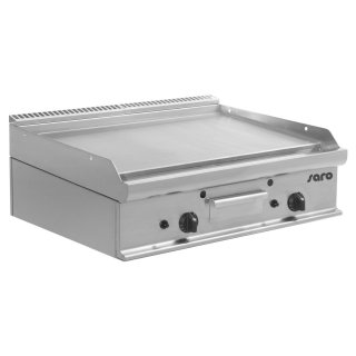 Gas-Griddleplatte Tischmodell E7/KTG2BBL, Maße: B 800, Bratplatte: 795 x T 700, Bratplatte: 530 x H 270