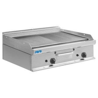 Gas-Griddleplatte Tischmodell E7/KTG2BBM, Maße: B 800, Bratplatte: 795 x T 700, Bratplatte: 530 x H 270