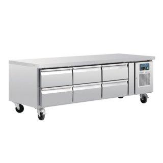 Polar Serie U GN-Kühltisch mit 6 Schubladen 317L